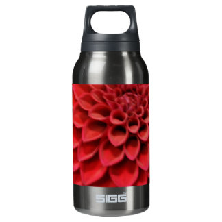 Red Dahlia Flower Insulated Water Bottle