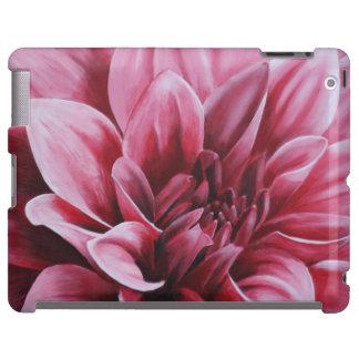 Red Dahlia Flower iPad Case