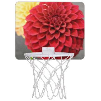 Red Dahlia Flower Mini Basketball Hoop