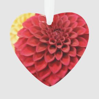 Red Dahlia Flower Ornament