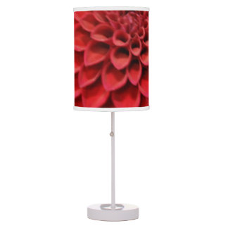 Red Dahlia Flower Table Lamp