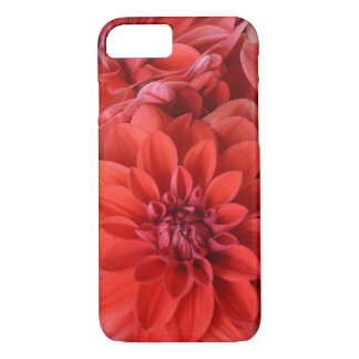 Red dahlia flowers iphone case