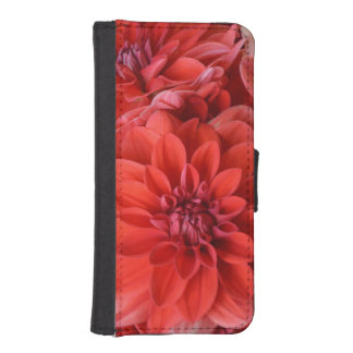 Red dahlia flowers iphone case iPhone 5 wallet case
