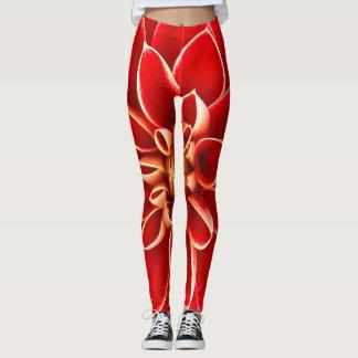 Red Dahlia Leggings