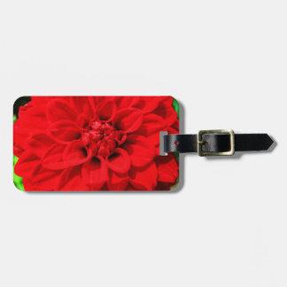 Red Dahlia Luggage Tag