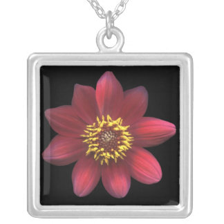 Red Dahlia Necklace