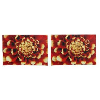Red Dahlia Pillow Cases