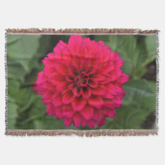 Red Dahlia Throw Blanket