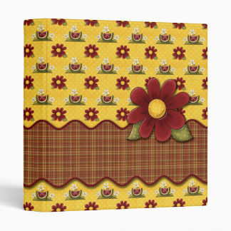 Red Daisies Flower Garden Binder