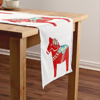 Red Dala Horse Table Runner