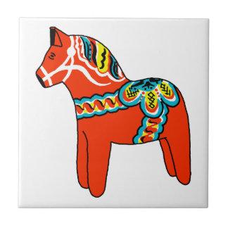 Red Dala Horse Tile