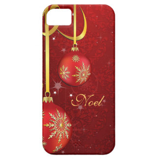 Red Damask Christmas iPhone 5 Cases