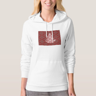 Red Damask Christmas Tree Hoodie