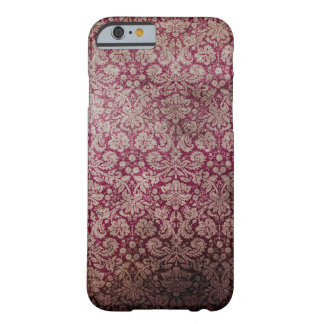 Red Damask Grunge Pattern Barely There iPhone 6 Case