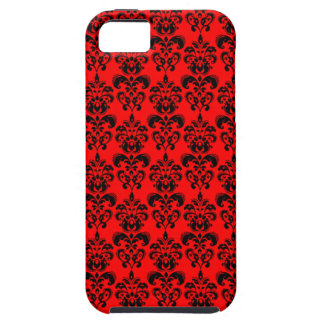 Red Damask iPhone 5 case