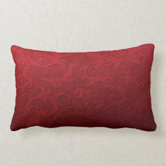 Red Damask Look Cushion