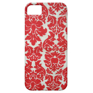 Red Damask Pattern for I Phone Case For The iPhone 5