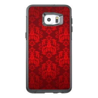 Red Damask Pattern Print Design OtterBox Samsung Galaxy S6 Edge Plus Case