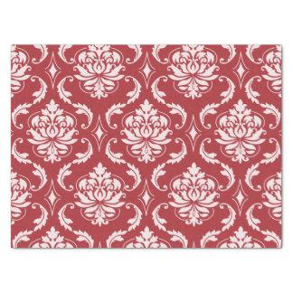 Red Damask Vintage Pattern Tissue Paper