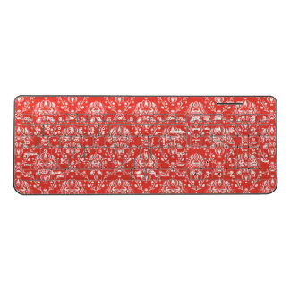 Red Damask Wireless Keyboard