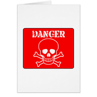 Red Danger Sign Card