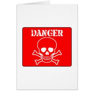 Red Danger Sign Card