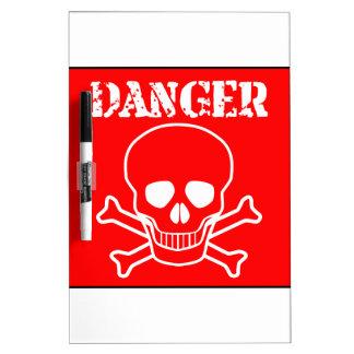 Red Danger Sign Dry Erase Board