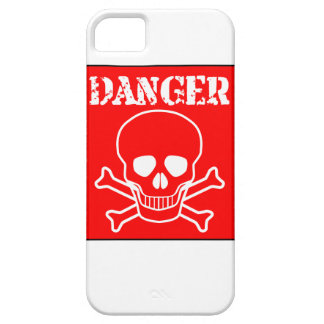 Red Danger Sign iPhone 5 Cases