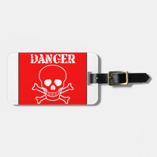 Red Danger Sign Luggage Tag