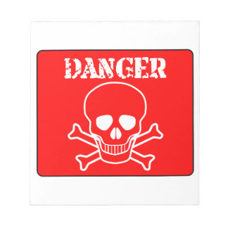 Red Danger Sign Notepad