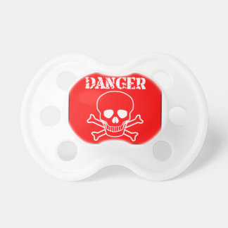 Red Danger Sign Pacifier