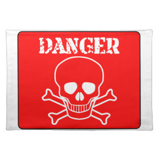 Red Danger Sign Placemat