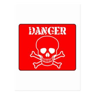 Red Danger Sign Postcard