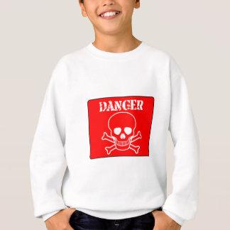 Red Danger Sign Sweatshirt