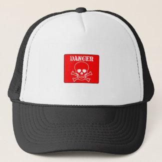 Red Danger Sign Trucker Hat