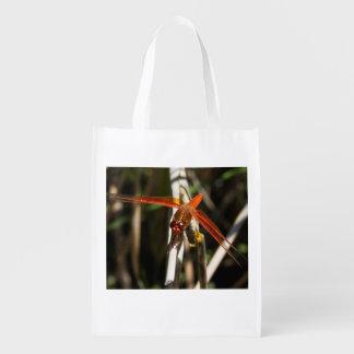 Red Darner Dragonfly Reusable Bag Reusable Grocery Bag