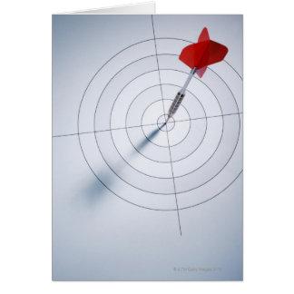Red Dart Greeting Card