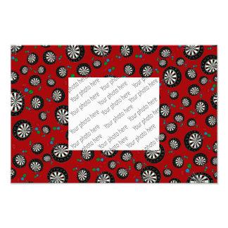 Red dartboard pattern photographic print