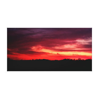 Red dawn (Photo) Canvas Print