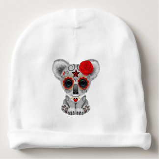 Red Day of the Dead Baby Koala Baby Beanie