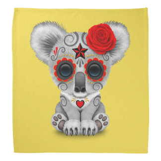Red Day of the Dead Baby Koala Bandana
