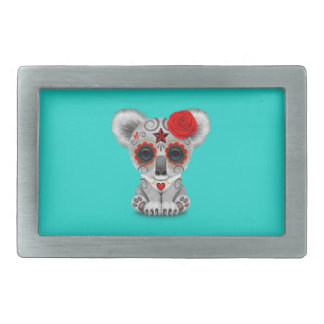 Red Day of the Dead Baby Koala Belt Buckle