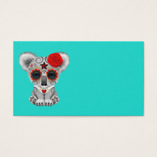 Red Day of the Dead Baby Koala Business Card