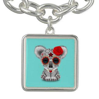 Red Day of the Dead Baby Koala Charm Bracelet