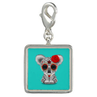 Red Day of the Dead Baby Koala Charms