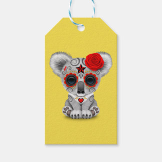 Red Day of the Dead Baby Koala Gift Tags