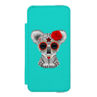 Red Day of the Dead Baby Koala Incipio Watson™ iPhone 5 Wallet Case