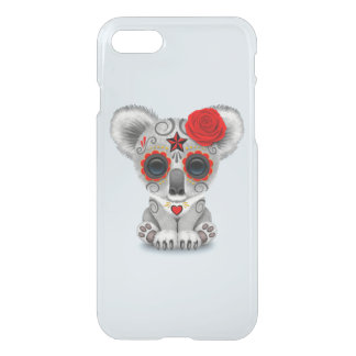 Red Day of the Dead Baby Koala iPhone 8/7 Case