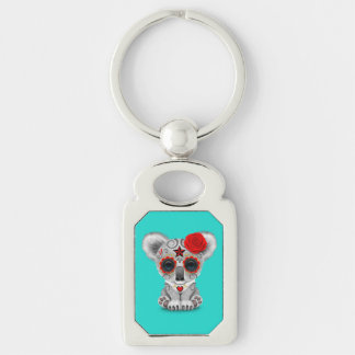 Red Day of the Dead Baby Koala Keychain