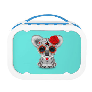 Red Day of the Dead Baby Koala Lunch Box